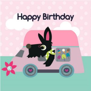 Happy Birthday Card - Bailey and Car